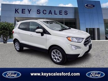 2020 Diamond White Ford EcoSport SE EcoBoost 1.0L I3 GTDi DOHC Turbocharged VCT Engine 4 Door FWD Automatic