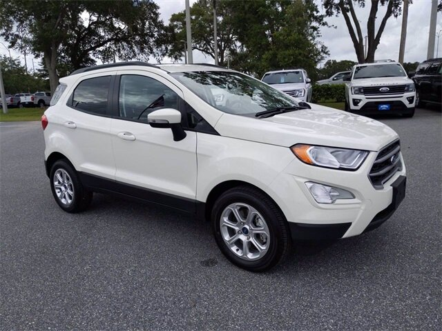 2020 Diamond White Ford EcoSport SE SUV 4 Door FWD EcoBoost 1.0L I3 GTDi DOHC Turbocharged VCT Engine