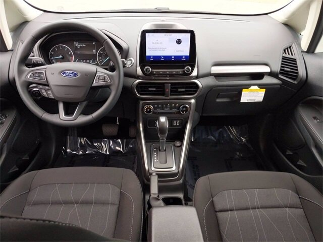 2020 Diamond White Ford EcoSport SE EcoBoost 1.0L I3 GTDi DOHC Turbocharged VCT Engine SUV FWD 4 Door Automatic