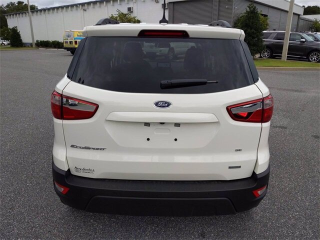 2020 Diamond White Ford EcoSport SE 4 Door SUV EcoBoost 1.0L I3 GTDi DOHC Turbocharged VCT Engine FWD Automatic