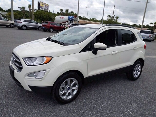 2020 Diamond White Ford EcoSport SE EcoBoost 1.0L I3 GTDi DOHC Turbocharged VCT Engine Automatic SUV FWD
