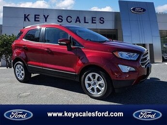 2020 Ruby Red Metallic Tinted Clearcoat Ford EcoSport SE Automatic FWD 4 Door SUV