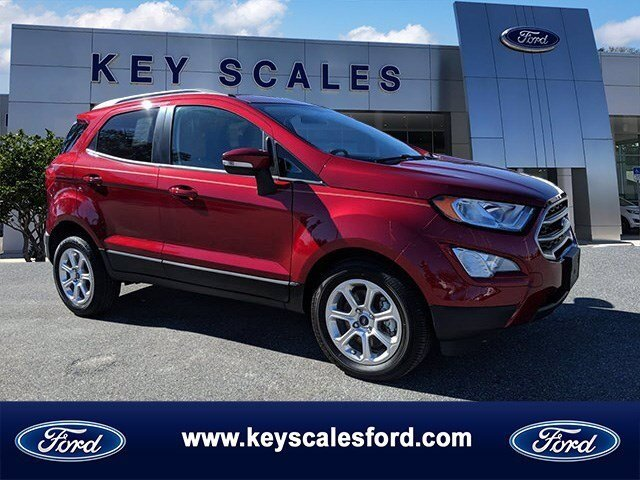 2020 Ford EcoSport SE EcoBoost 1.0L I3 GTDi DOHC Turbocharged VCT Engine Automatic FWD 4 Door