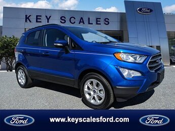 2020 Lightning Blue Metallic Ford EcoSport SE EcoBoost 1.0L I3 GTDi DOHC Turbocharged VCT Engine Automatic SUV 4 Door FWD