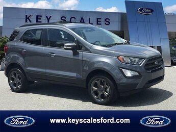 2018 Smoke Metallic Ford EcoSport SES SUV Automatic AWD 4 Door Regular Unleaded I-4 Engine