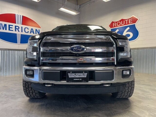 2016 Shadow Black Ford F-150 Lariat 4 Door 3.5L V6 Engine Truck