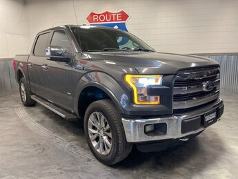 2015 Gray Ford F-150 Lariat 3.5L V6 Engine 4 Door Automatic 4X4