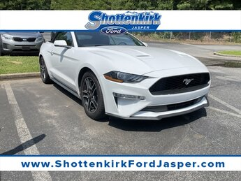 2018 Oxford White Ford Mustang EcoBoost Premium Convertible EcoBoost 2.3L I4 GTDi DOHC Turbocharged VCT Engine RWD