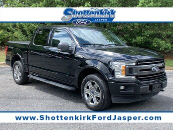 2018 Shadow Black Ford F-150 XLT Automatic 4X4 4 Door 3.5L V6 Engine Truck