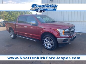 2018 Ruby Red Metallic Tinted Clearcoat Ford F-150 Lariat 4X4 4 Door 3.5L V6 Engine Truck