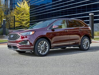 2021 Carbonized Gray Metallic Ford Edge Titanium 4 Door SUV FWD EcoBoost 2.0L I4 GTDi DOHC Turbocharged VCT Engine
