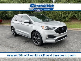 2019 Ingot Silver Metallic Ford Edge ST EcoBoost 2.7L V6 GTDi DOHC 24V Twin Turbocharged Engine AWD 4 Door