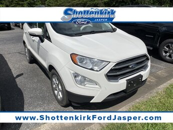 2018 Diamond White Ford EcoSport SE 4 Door FWD EcoBoost 1.0L I3 GTDi DOHC Turbocharged VCT Engine SUV