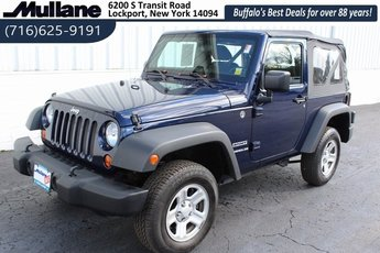 2013 True Blue Pearl Jeep Wrangler Sport 3.6L V6 24V VVT Engine Manual SUV 4X4