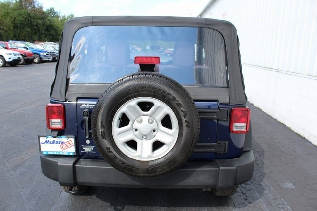2013 True Blue Pearl Jeep Wrangler Sport 2 Door 4X4 Manual