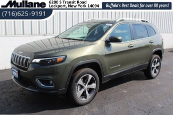 2019 Olive Green Pearlcoat Jeep Cherokee Limited 4 Door 2.0L I4 DOHC Engine Automatic 4X4