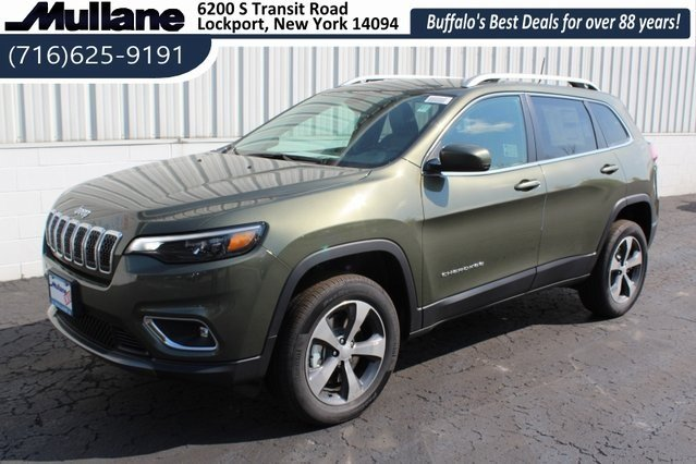 2019 Olive Green Pearlcoat Jeep Cherokee Limited 4 Door SUV 4X4 2.0L I4 DOHC Engine