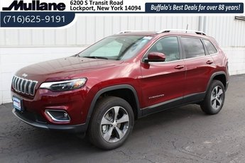 2019 Velvet Red Pearlcoat Jeep Cherokee Limited 4X4 Automatic 2.0L I4 DOHC Engine 4 Door SUV