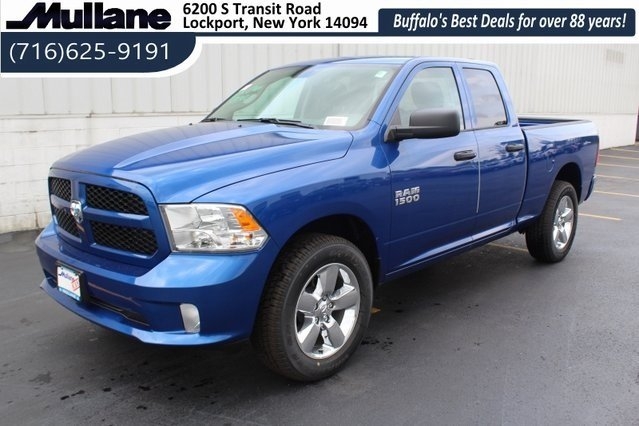 2018 Blue Streak Pearlcoat Ram 1500 Express 3.6L V6 24V VVT Engine 4 Door Automatic