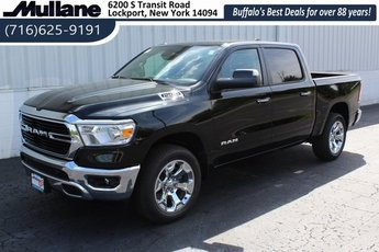 2019 Black / Forest Green Ram 1500 Big Horn 4X4 HEMI 5.7L V8 Multi Displacement VVT Engine 4 Door Truck