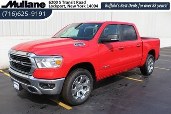 2019 Flame Red Clearcoat Ram 1500 Big Horn Automatic Truck 4 Door HEMI 5.7L V8 Multi Displacement VVT Engine