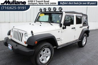2010 Stone White Jeep Wrangler Sport 3.8L V6 SMPI Engine Automatic 4X4 4 Door
