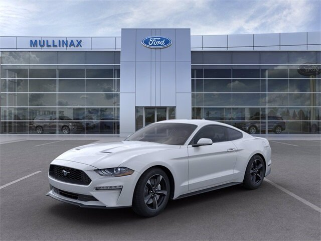 2021 Oxford White Ford Mustang EcoBoost Car 2 Door EcoBoost 2.3L I4 GTDi DOHC Turbocharged VCT Engine Automatic RWD