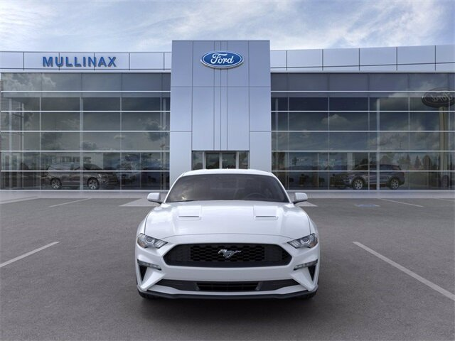 2021 Oxford White Ford Mustang EcoBoost RWD EcoBoost 2.3L I4 GTDi DOHC Turbocharged VCT Engine Car