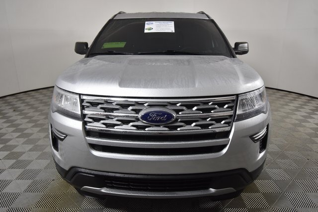 2019 Ingot Silver Metallic Ford Explorer XLT 3.5L V6 Ti-VCT Engine FWD Automatic
