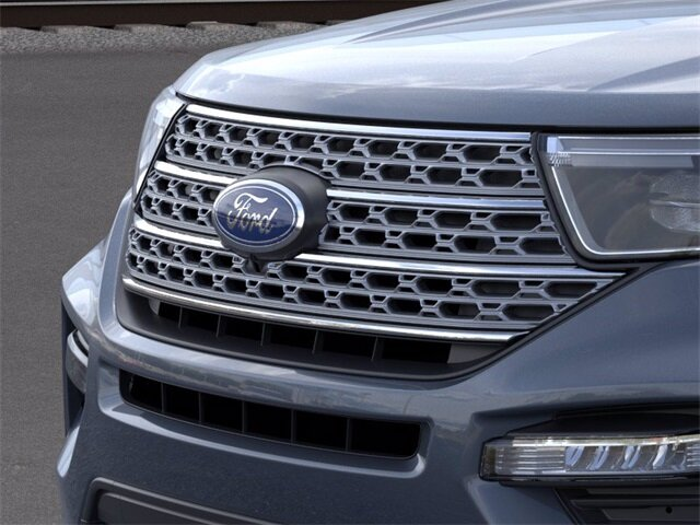 2021 Blue Ford Explorer Limited SUV 4 Door RWD