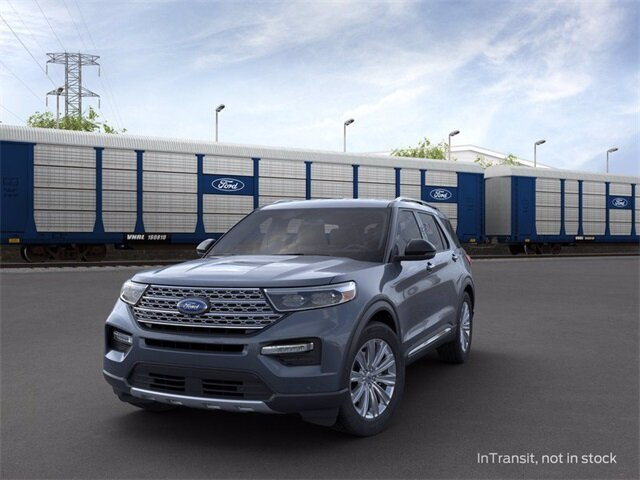 2021 Blue Ford Explorer Limited SUV 3.0L I4 PDI Hybrid Turbocharged DOHC 16V LEV3-ULEV70 300hp Engine 4 Door