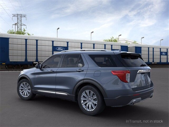 2021 Blue Ford Explorer Limited RWD 3.0L I4 PDI Hybrid Turbocharged DOHC 16V LEV3-ULEV70 300hp Engine Automatic 4 Door