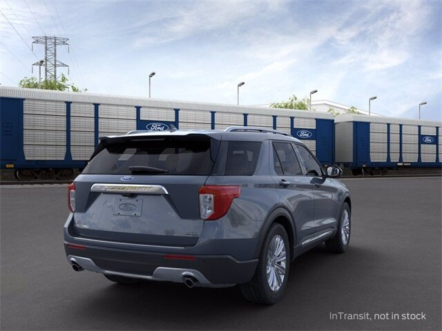 2021 Blue Ford Explorer Limited SUV Automatic RWD 4 Door