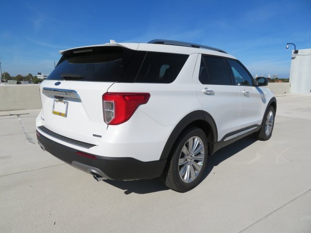 2021 White Ford Explorer Limited SUV 4 Door Automatic RWD 3.0L I4 PDI Hybrid Turbocharged DOHC 16V LEV3-ULEV70 300hp Engine