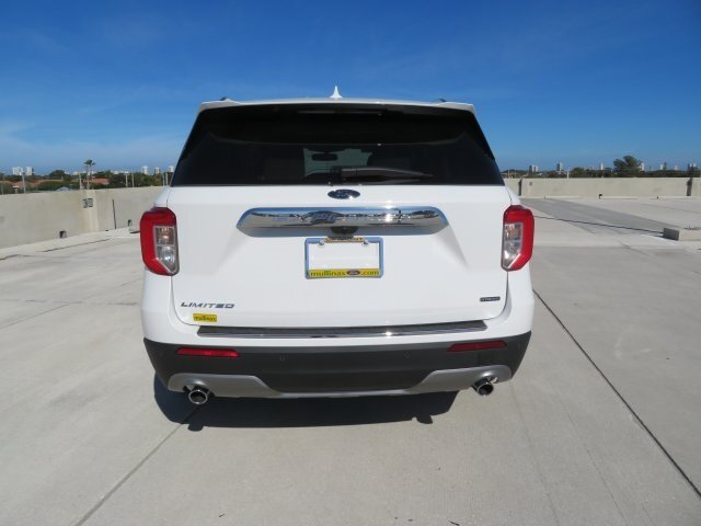 2021 White Ford Explorer Limited SUV RWD Automatic 4 Door 3.0L I4 PDI Hybrid Turbocharged DOHC 16V LEV3-ULEV70 300hp Engine