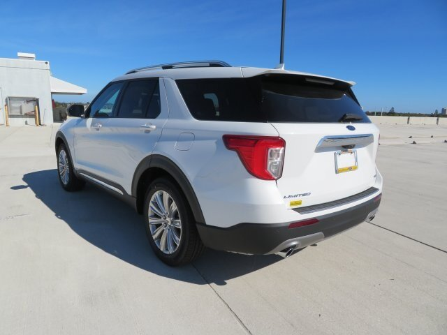 2021 White Ford Explorer Limited SUV 4 Door 3.0L I4 PDI Hybrid Turbocharged DOHC 16V LEV3-ULEV70 300hp Engine