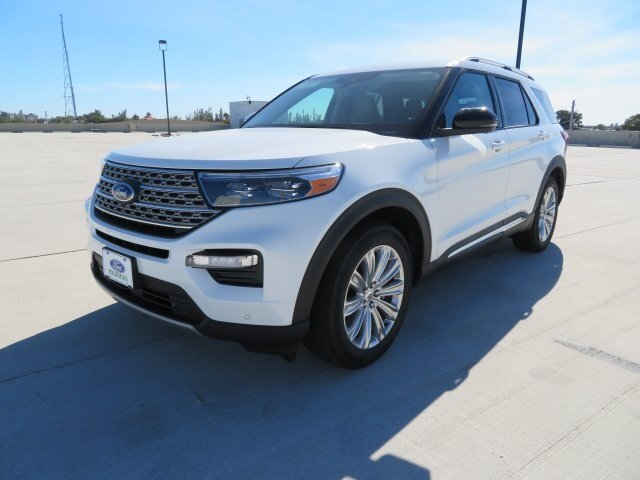 2021 White Ford Explorer Limited Automatic RWD 4 Door