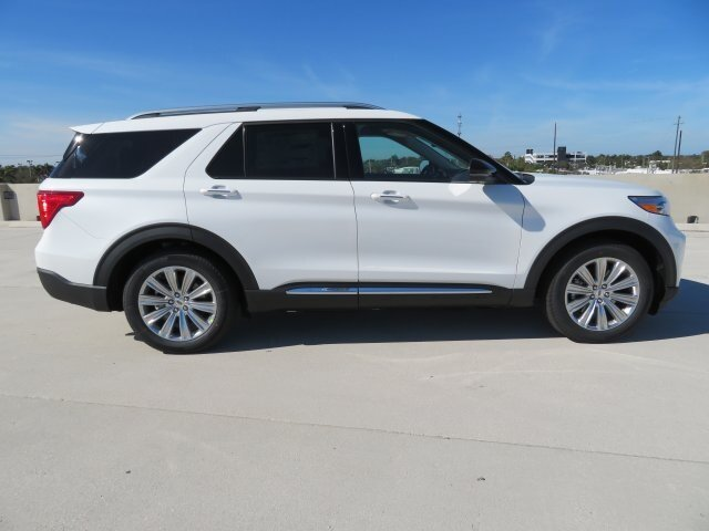 2021 White Ford Explorer Limited SUV RWD 4 Door 3.0L I4 PDI Hybrid Turbocharged DOHC 16V LEV3-ULEV70 300hp Engine