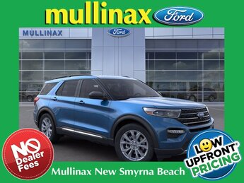 2021 Blue Ford Explorer XLT SUV RWD 4 Door Automatic