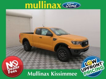 2021 Orange Ford Ranger XLT Automatic Truck RWD EcoBoost 2.3L I4 GTDi DOHC Turbocharged VCT Engine 4 Door
