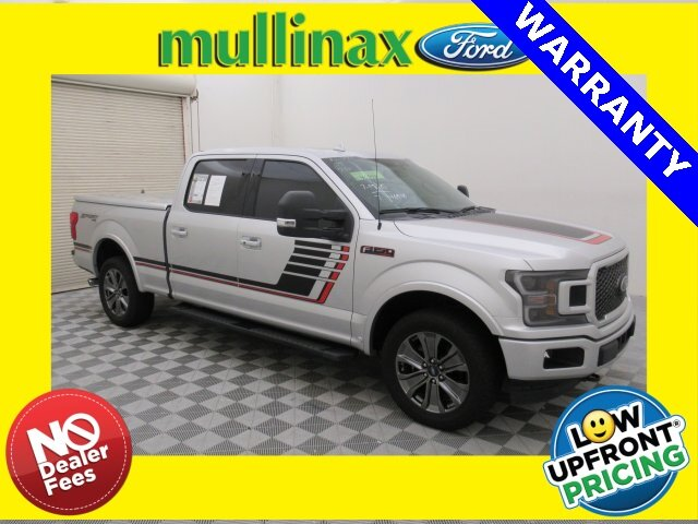 2018 Ingot Silver Metallic Ford F-150 Lariat 4X4 EcoBoost 3.5L V6 GTDi DOHC 24V Twin Turbocharged Engine 4 Door Truck