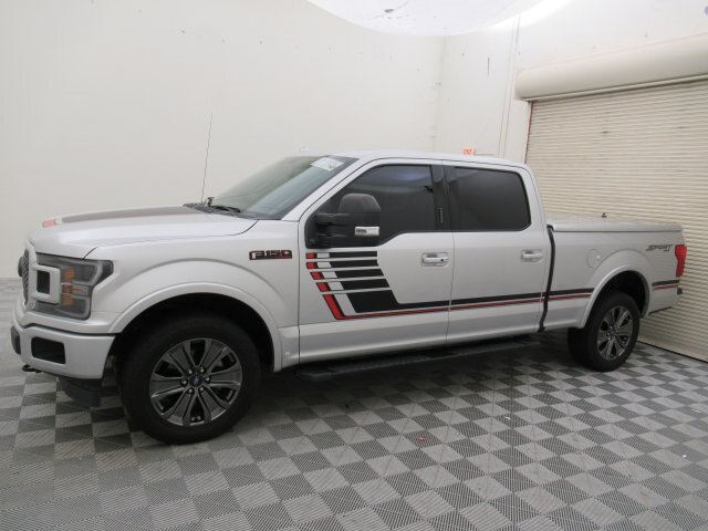 2018 Ingot Silver Metallic Ford F-150 Lariat 4 Door Automatic EcoBoost 3.5L V6 GTDi DOHC 24V Twin Turbocharged Engine 4X4 Truck