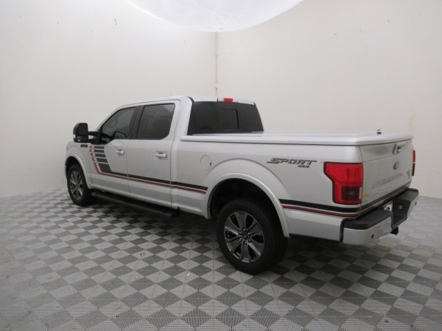 2018 Ingot Silver Metallic Ford F-150 Lariat 4 Door 4X4 EcoBoost 3.5L V6 GTDi DOHC 24V Twin Turbocharged Engine Truck Automatic