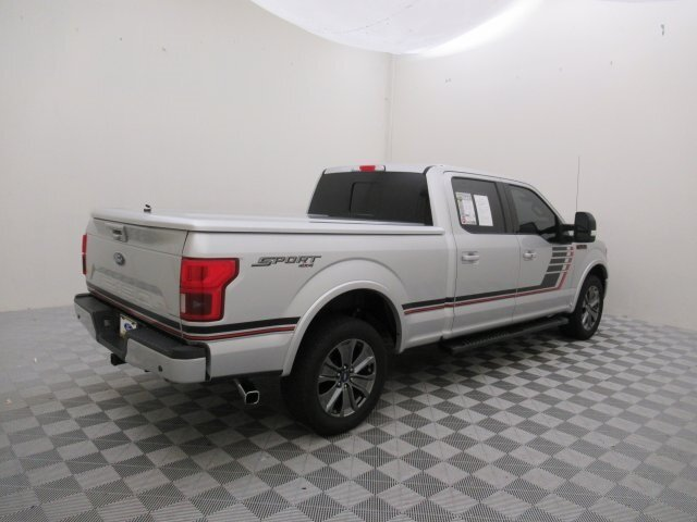 2018 Ingot Silver Metallic Ford F-150 Lariat 4X4 Truck EcoBoost 3.5L V6 GTDi DOHC 24V Twin Turbocharged Engine 4 Door