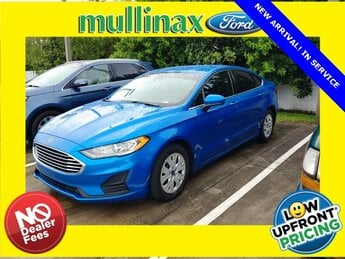 2019 Velocity Blue Metallic Ford Fusion S 2.5L iVCT Engine FWD Automatic