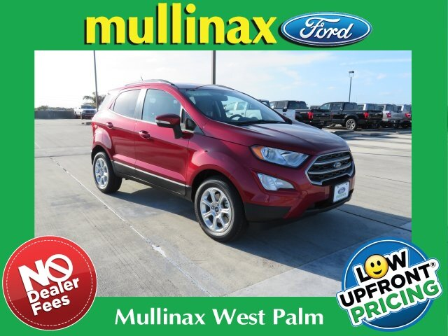 2021 Ruby Red Metallic Tinted Clearcoat Ford EcoSport SE SUV FWD 4 Door
