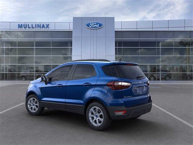2021 Lightning Blue Metallic Ford EcoSport SE 4 Door SUV EcoBoost 1.0L I3 GTDi DOHC Turbocharged VCT Engine Automatic FWD