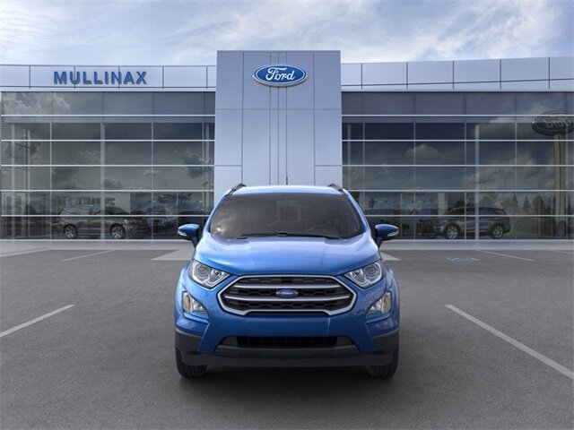2021 Lightning Blue Metallic Ford EcoSport SE FWD 4 Door EcoBoost 1.0L I3 GTDi DOHC Turbocharged VCT Engine Automatic