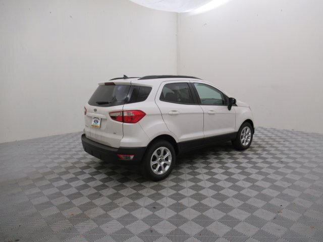 2021 White Platinum Metallic Tri-Coat Ford EcoSport SE 4 Door EcoBoost 1.0L I3 GTDi DOHC Turbocharged VCT Engine FWD