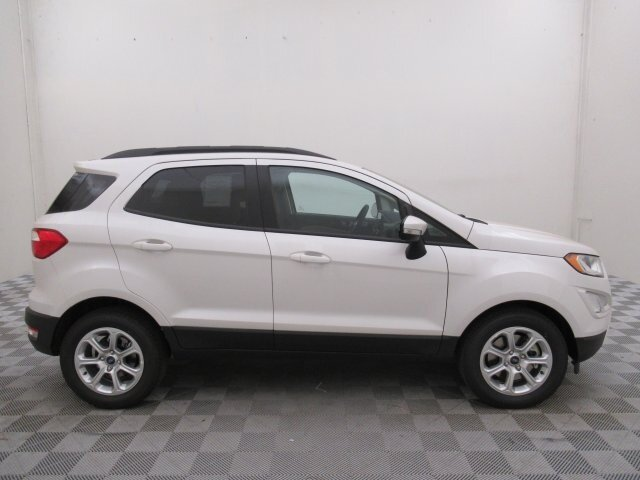 2021 White Platinum Metallic Tri-Coat Ford EcoSport SE EcoBoost 1.0L I3 GTDi DOHC Turbocharged VCT Engine 4 Door SUV Automatic
